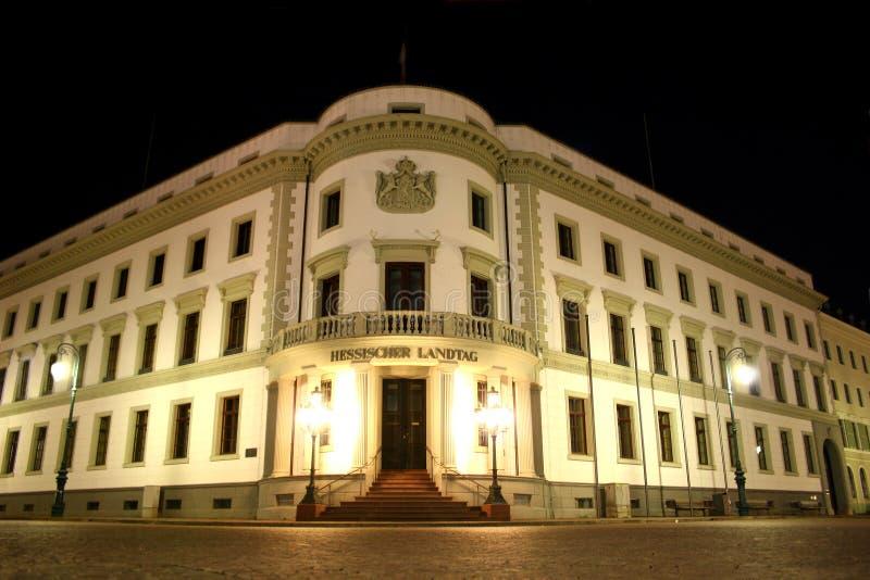 Hessischer Landtag in Wiesbaden lizenzfreie stockfotografie