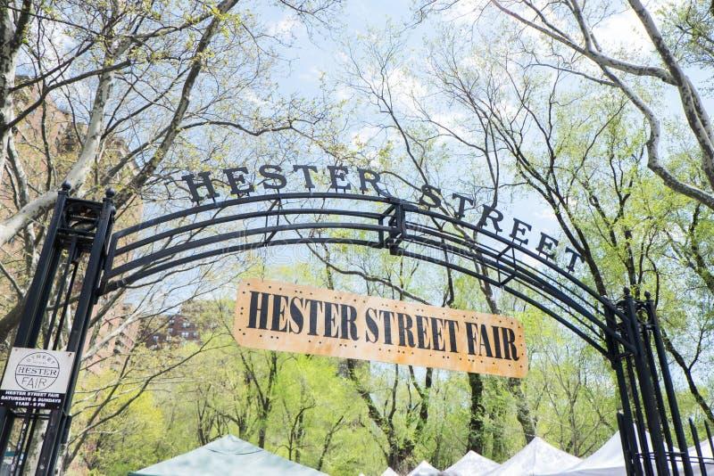 Hester Street Fair royaltyfri bild