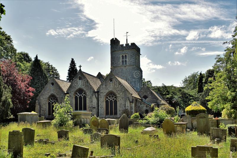 Heston kyrkogård arkivbilder