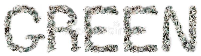 Groen - Geplooide Rekeningen 100$ Royalty-vrije Stock Foto