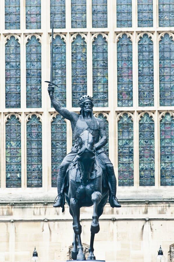 Het 1st standbeeld van Richard in Londen, Engeland royalty-vrije stock foto