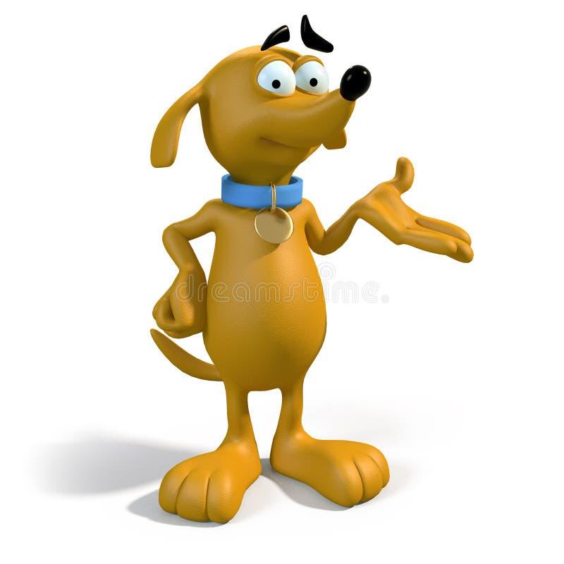 het 3D bruine hond voorstellen royalty-vrije illustratie