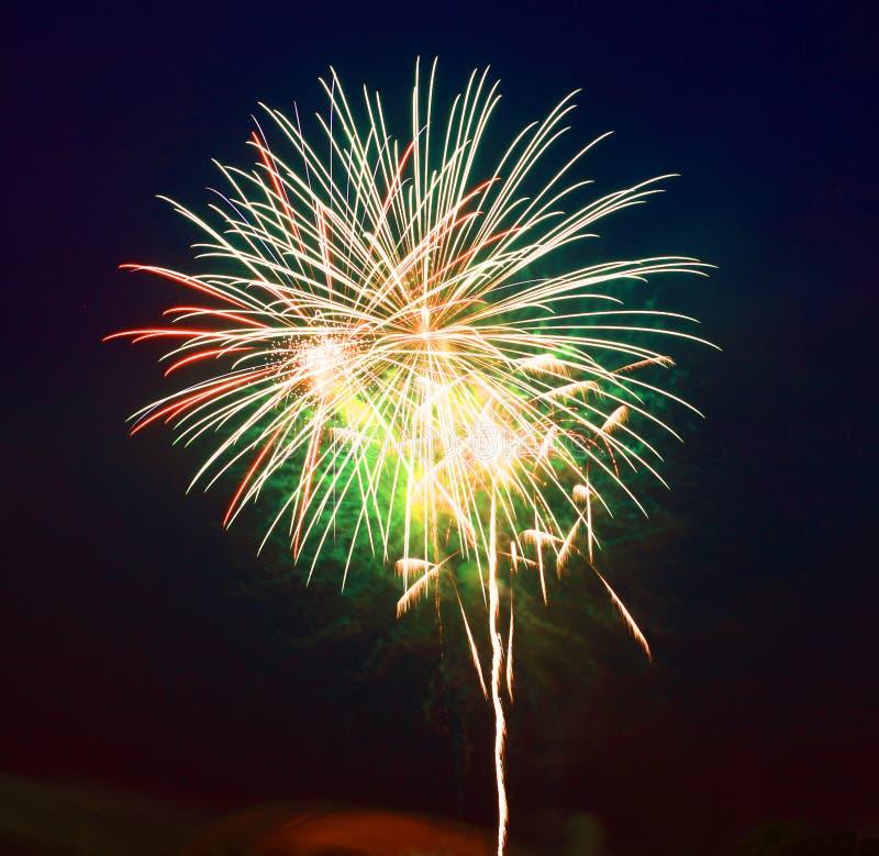 Het 4 vuurwerk van Juli royalty-vrije stock fotografie