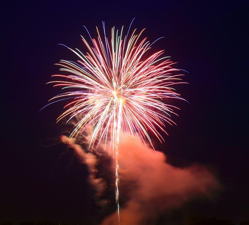 Het 4 vuurwerk van Juli royalty-vrije stock foto