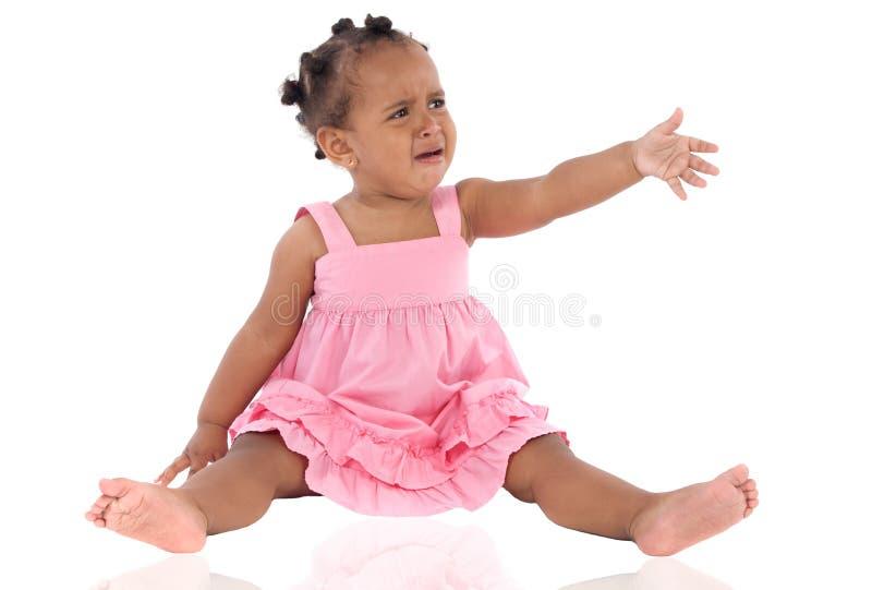 Het aanbiddelijke baby schreeuwen royalty-vrije stock afbeelding