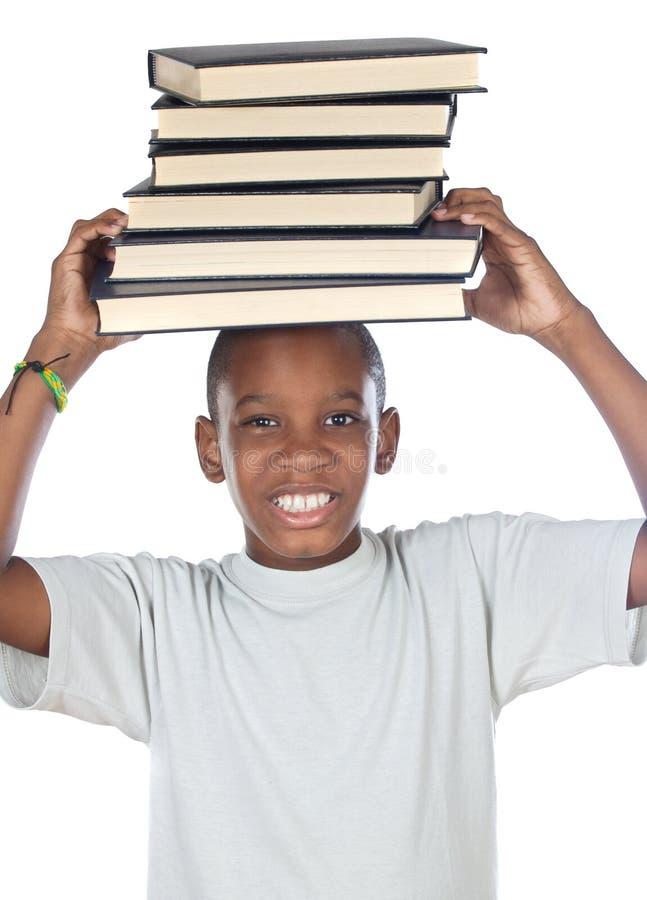 Het aanbiddelijke kind bestuderen stock foto