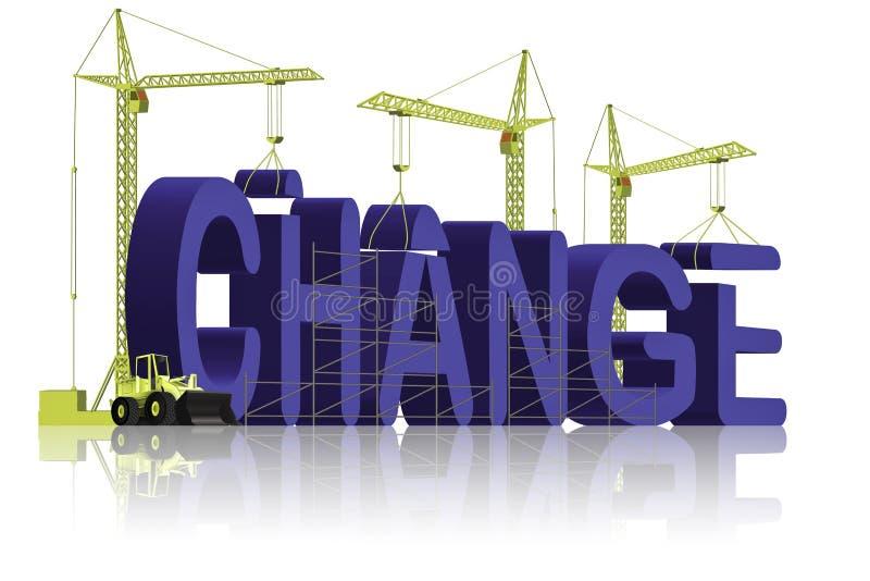 Het aanbrengen van een verandering vector illustratie