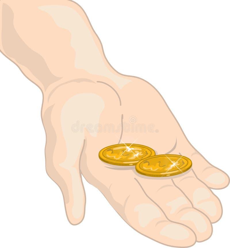 Het aanbrengen van mijn twee centen stock illustratie