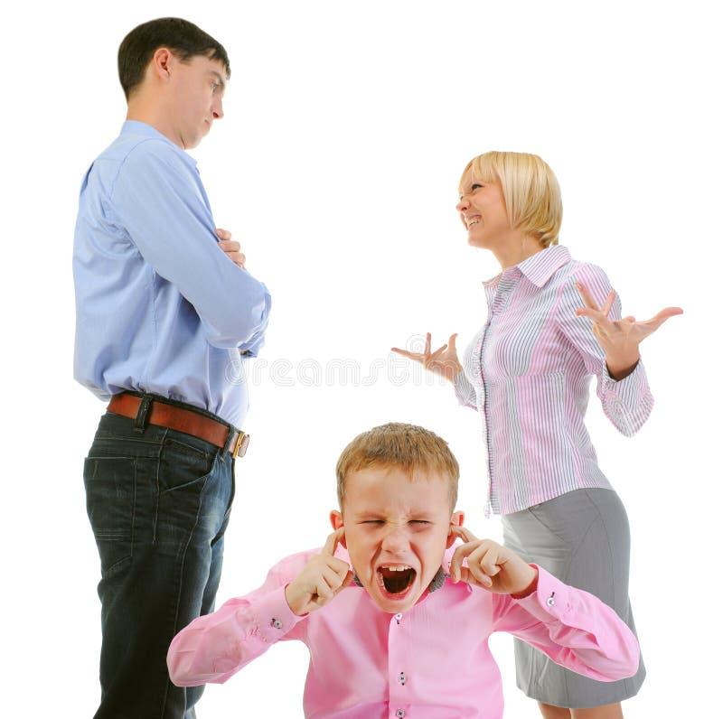 Het aandeelkind van ouders. royalty-vrije stock foto's