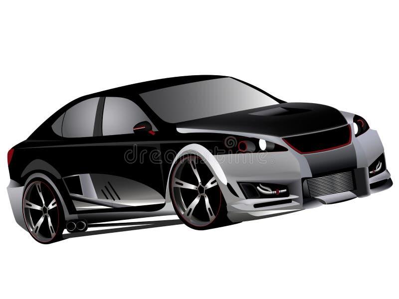 Het aangepaste lexus isf turbo afdrijven stock illustratie