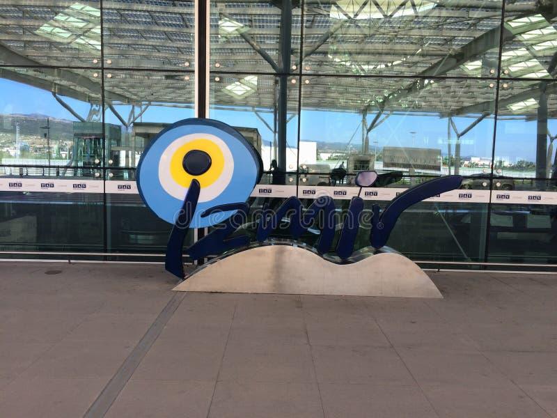 Het aankomen in de Luchthaven van Izmir stock foto