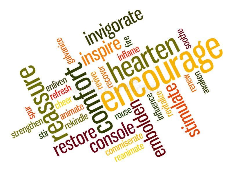 Het aanmoedigen van woorden