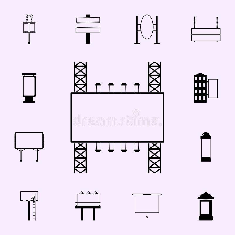 het aanplakbordpictogram van de staalstructuur Voor Web wordt geplaatst dat en het mobiele algemene begrip van aanplakbordenpicto royalty-vrije illustratie