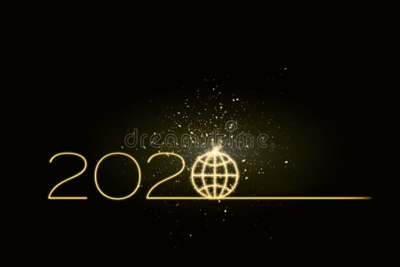 het aanstaande jaar van 2020 onvoorspelbaar op een mondiaal niveau royalty-vrije stock afbeeldingen