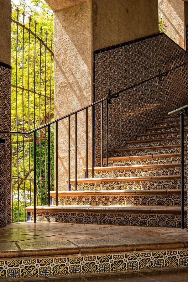Het aansteken van een trap, Tlaquepaque stock fotografie