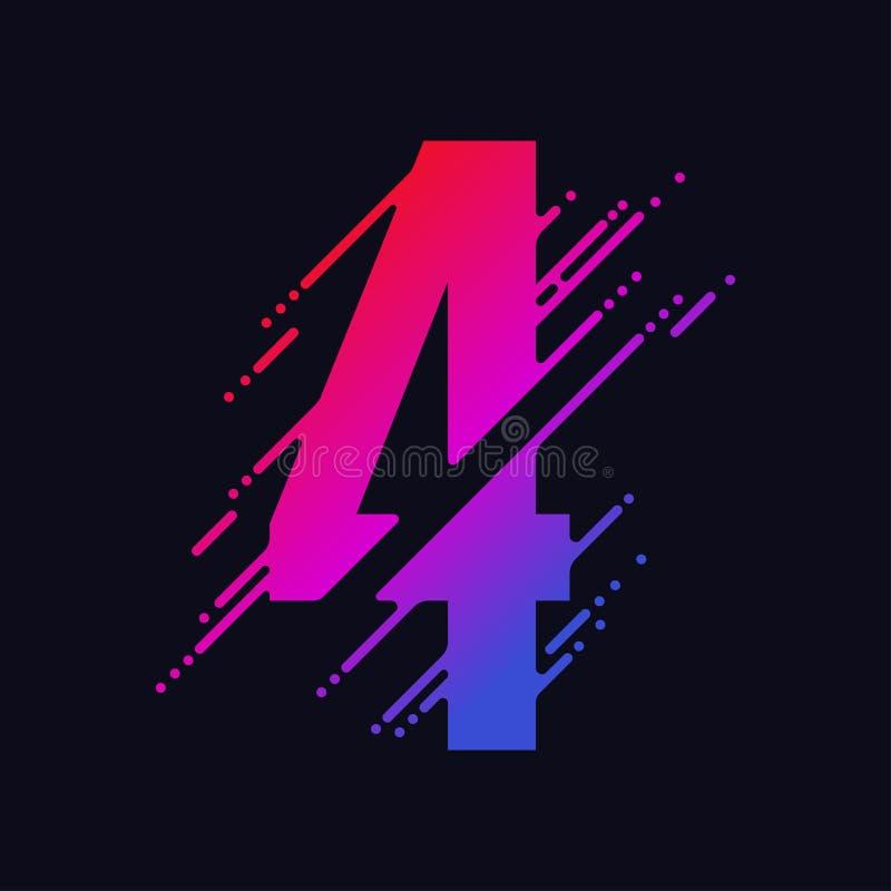 Het aantal met vloeibare plons en dalingen, vat kleurrijke cijfers, inkt wiskundig symbool samen Vector royalty-vrije illustratie