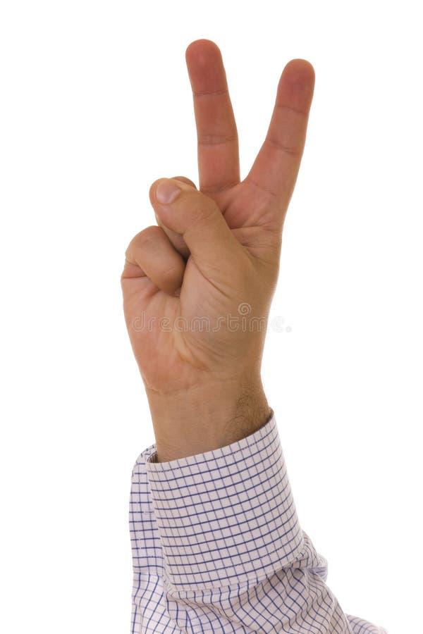 Het aantal van de hand stock foto