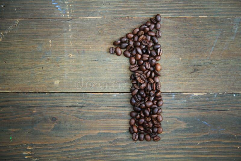 Het aantal van de koffie  royalty-vrije stock fotografie