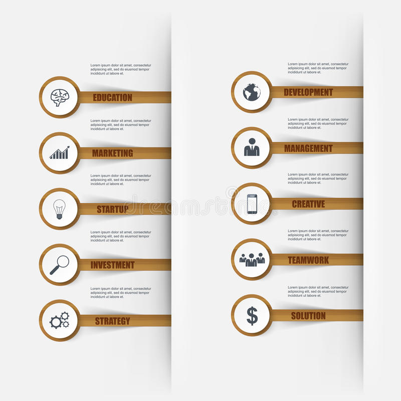 Het aantalopties van de Infographics houten stok stock illustratie
