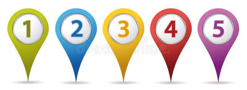 Het aantalspelden van de plaats royalty-vrije illustratie