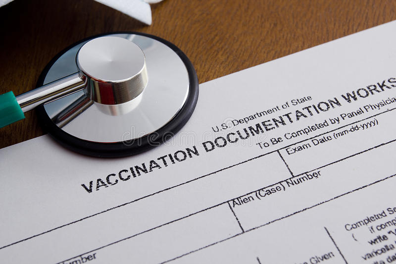 Het Aantekenvel van de inentingsdocumentatie royalty-vrije stock afbeelding