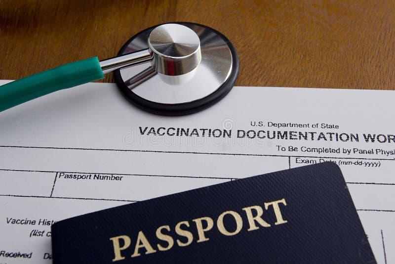 Het Aantekenvel van de inentingsdocumentatie royalty-vrije stock foto