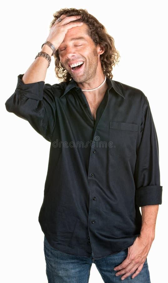 Het aantrekkelijke Lachen van de Mens stock fotografie