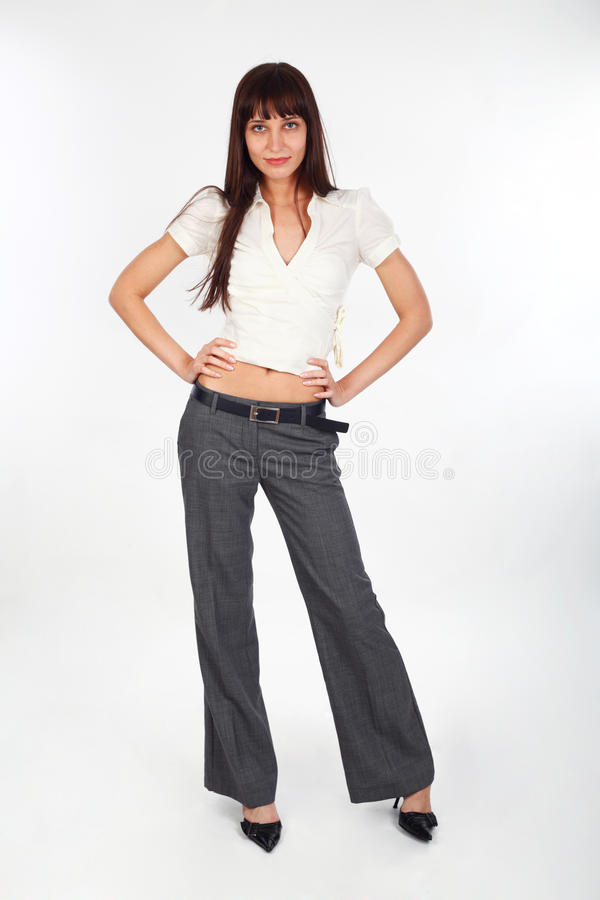Het aantrekkelijke model stellen stock foto