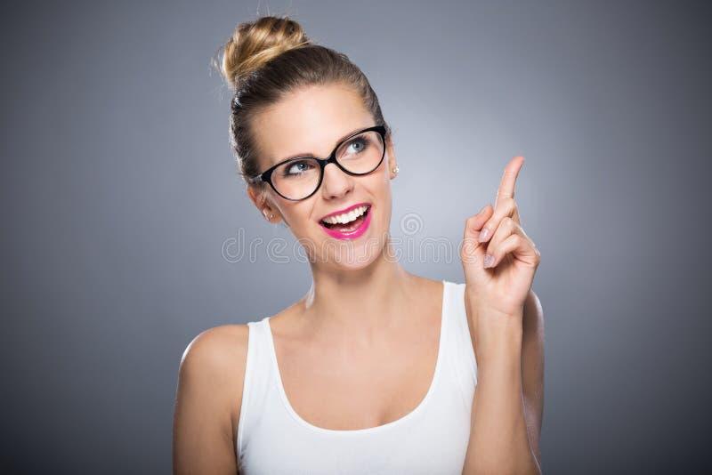 Het aantrekkelijke Vrouw Glimlachen royalty-vrije stock foto