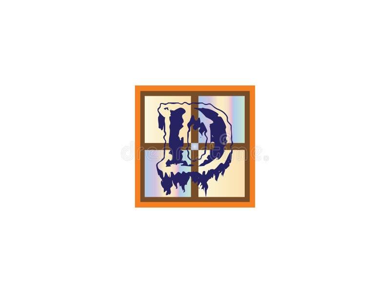 Het aanvankelijke Element van Logo Vector Graphic Branding Letter van het Brievend Ontwerp royalty-vrije illustratie