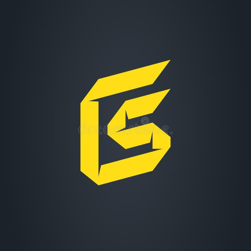 Het aanvankelijke embleem van Cs C en van S aanvankelijk monogram logotype Vector desig royalty-vrije illustratie