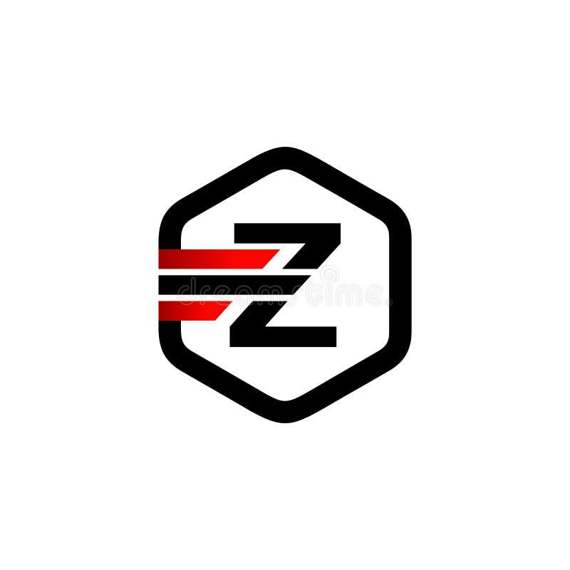 Het aanvankelijke Embleem van de Brievenz Hexagon Strook vector illustratie