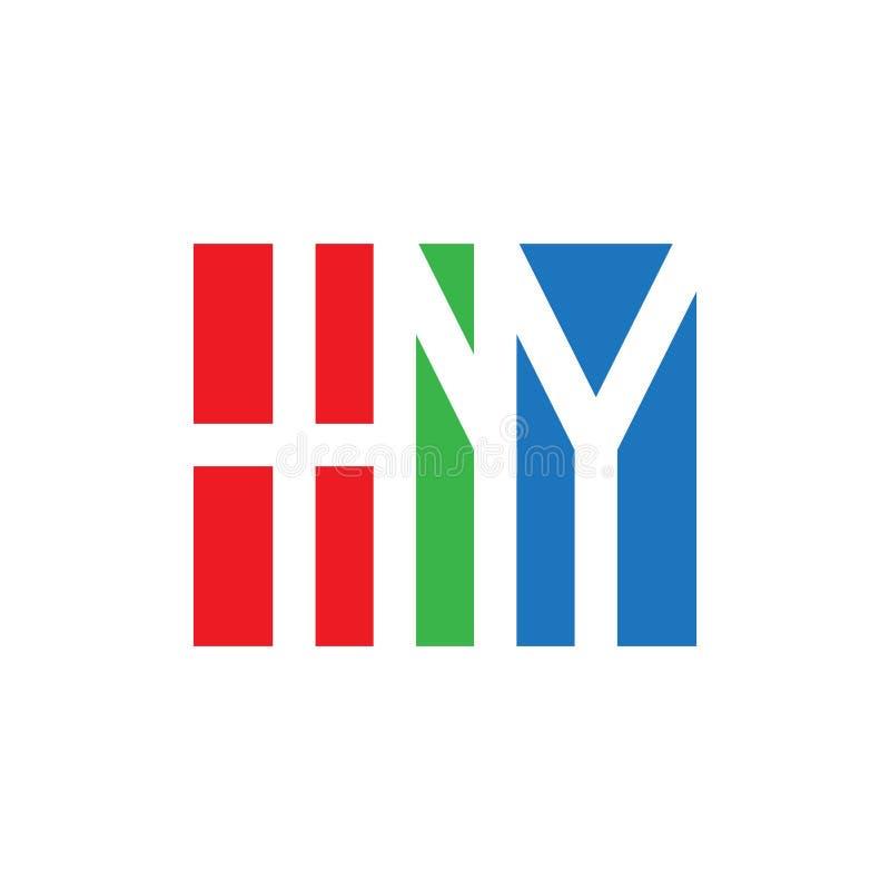 Het aanvankelijke embleem van HNY Monogram logotype Vectorontwerpelement of ic royalty-vrije illustratie