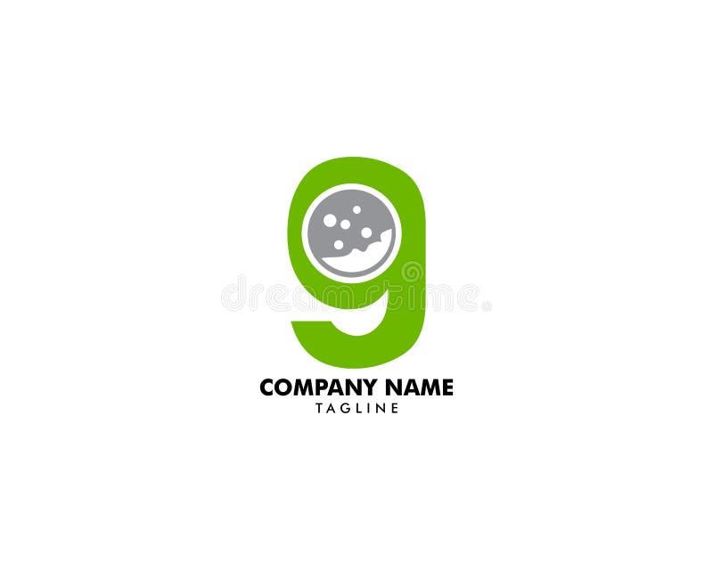 Het aanvankelijke Pictogram Logo Design Element van het Brieveng Golf vector illustratie