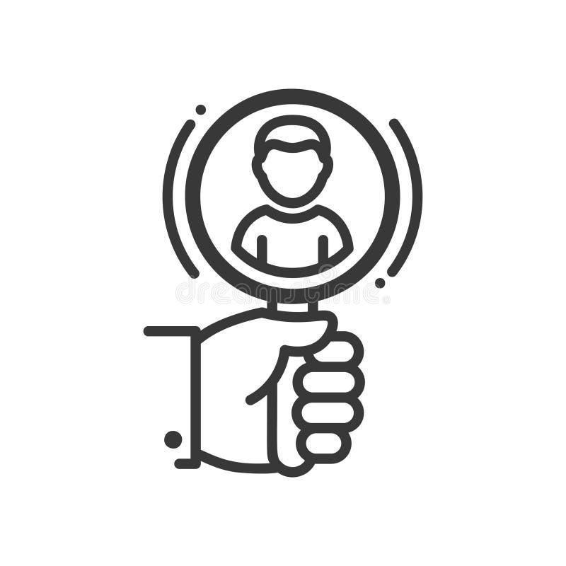 Het aanwerven - het enige geïsoleerde pictogram van het lijnontwerp stock illustratie
