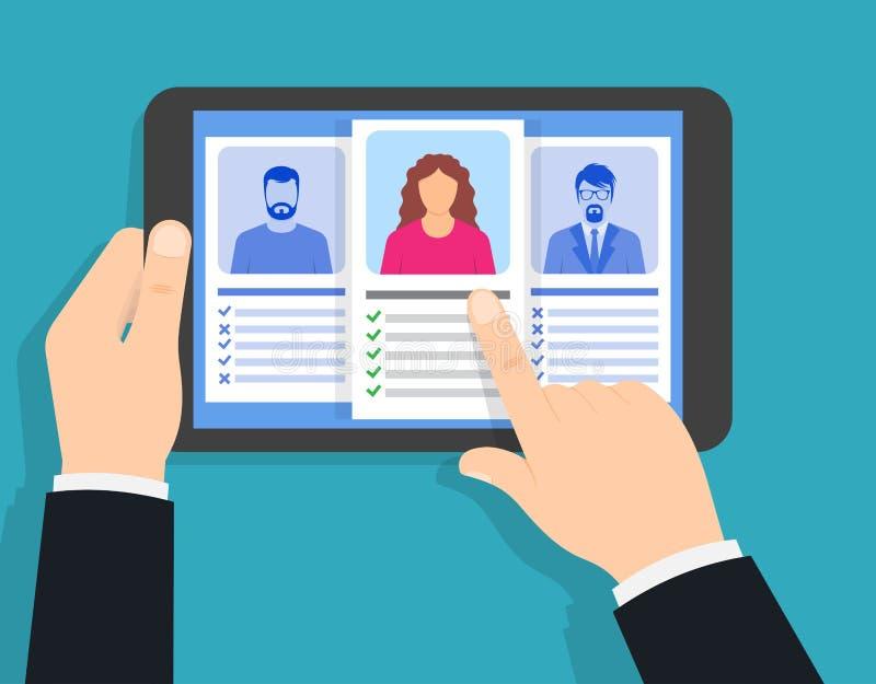 Het aanwerven van agentschap Baangesprek, rekruteringsagentschap stock illustratie