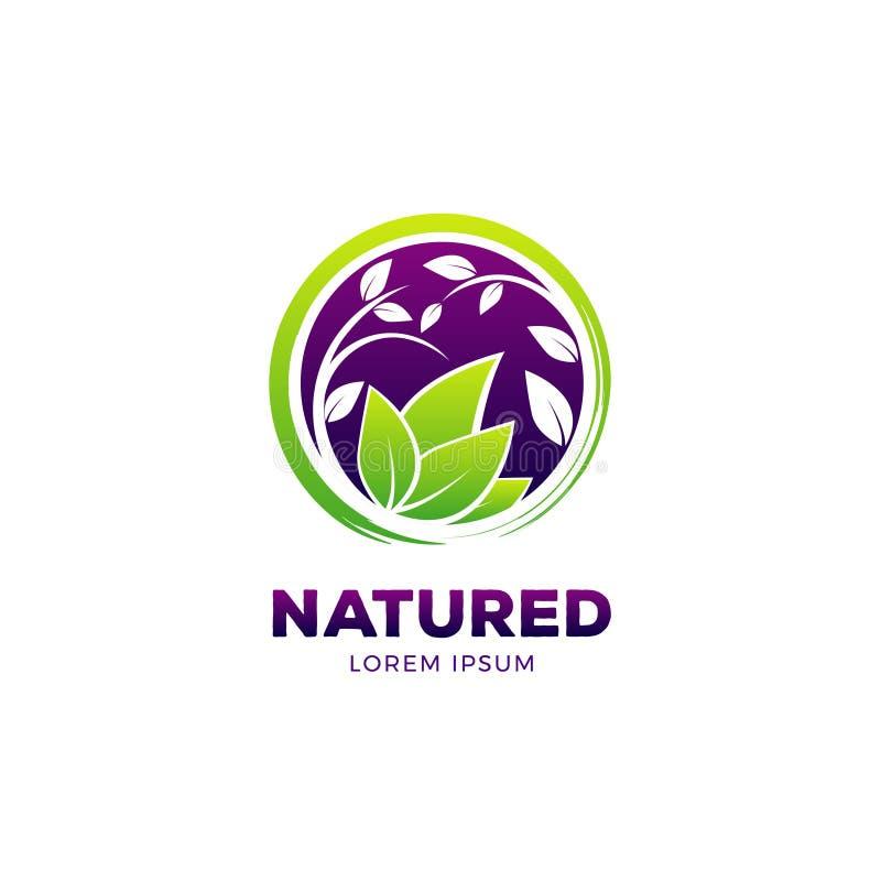 Het aard Gezonde Leven Logo Symbol Icon stock illustratie