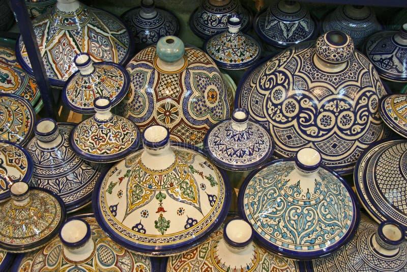 Het Aardewerk van Moroccon royalty-vrije stock afbeeldingen