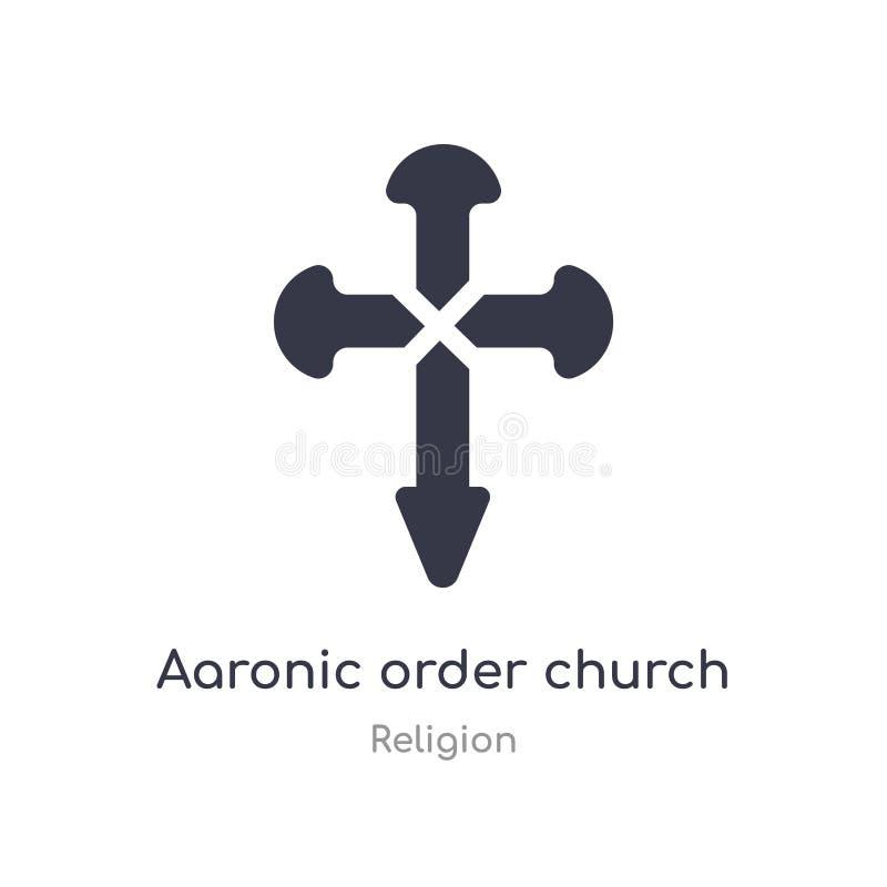het aaronic pictogram van de ordekerk geïsoleerde aaronic het pictogram vectorillustratie van de ordekerk van godsdienstinzamelin royalty-vrije illustratie