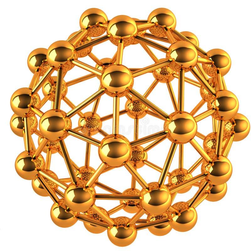Het abstracte 3D concept van het netwerk royalty-vrije illustratie