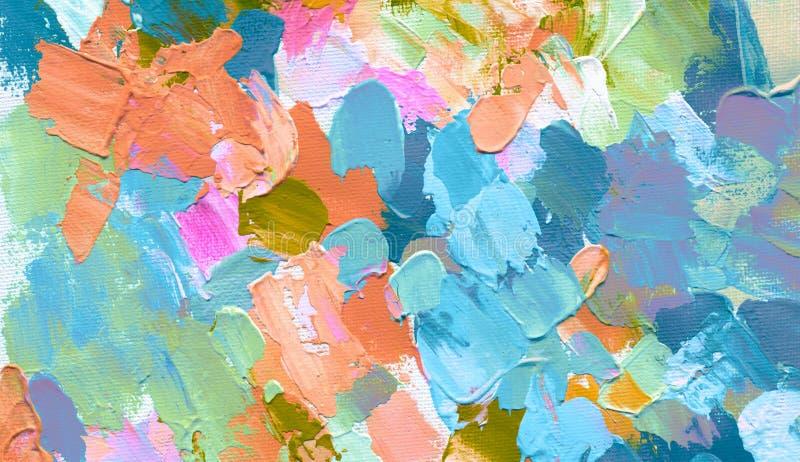 Het abstracte acryl en waterverf schilderen De achtergrond van het canvas royalty-vrije stock fotografie
