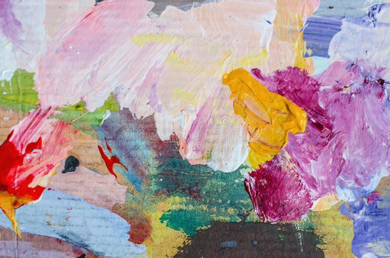Het abstracte acryl schilderen Eigentijds art. Textuur voor diverse achtergrond stock foto