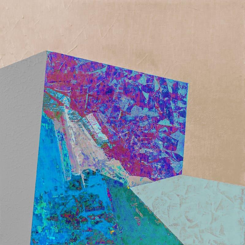Het abstracte acryl schilderen met kleurrijke patronen royalty-vrije stock foto's
