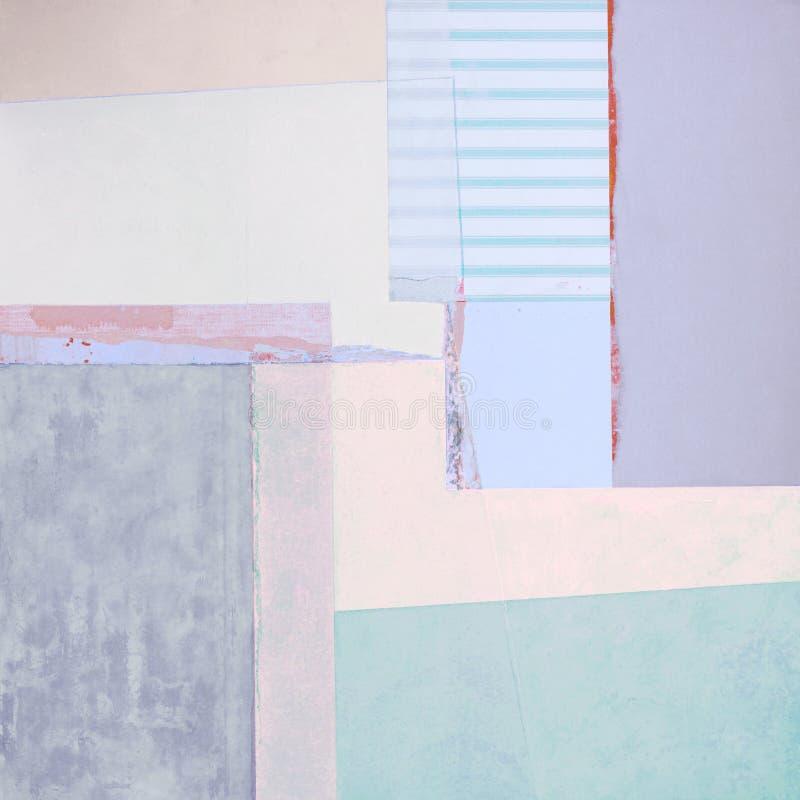 Het abstracte acryl schilderen met stroken stock fotografie
