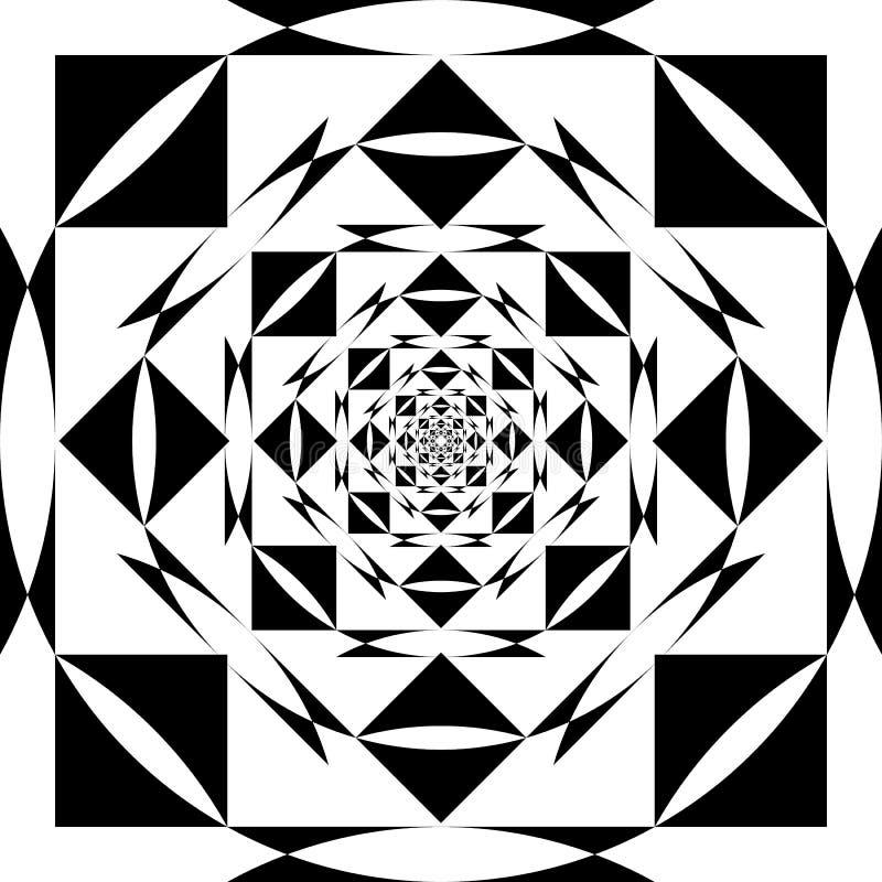 Het abstracte Arabesque-Ontwerp van het Fonteinperspectief royalty-vrije illustratie