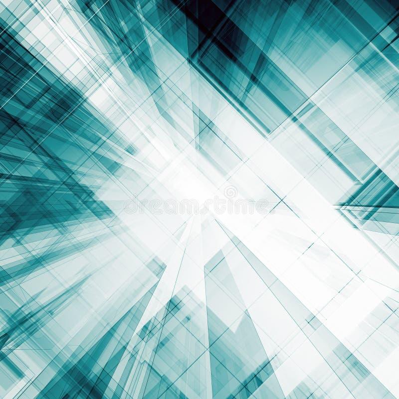 Het abstracte architectuur 3d teruggeven vector illustratie