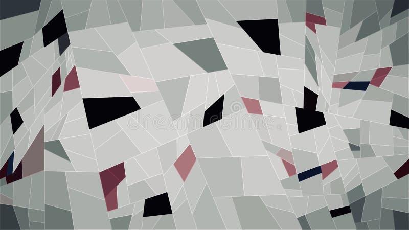Het abstracte behang van de meetkunde witte zwarte roze kleur stock illustratie