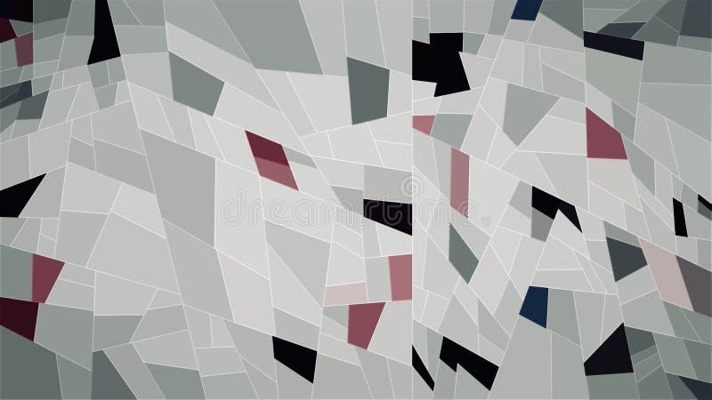 Het abstracte behang van de meetkunde witte zwarte roze kleur royalty-vrije illustratie