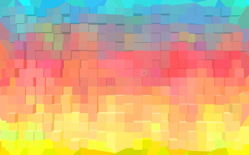Het abstracte behang van het blokpatroon royalty-vrije illustratie