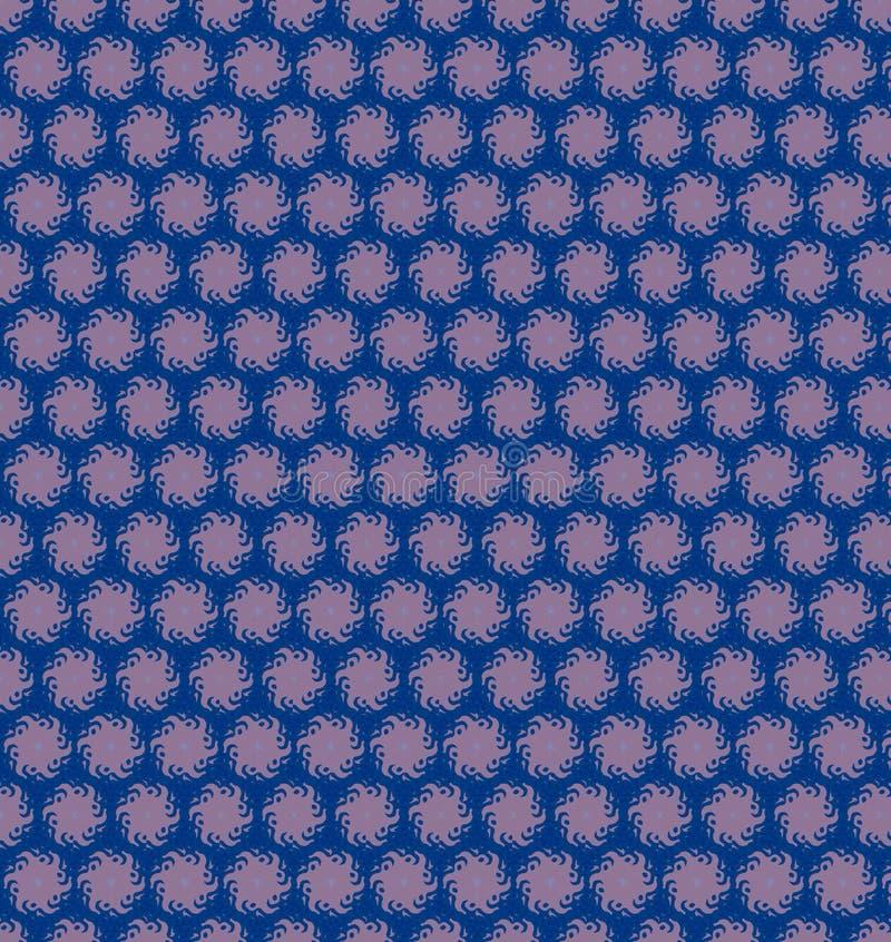 Het abstracte behang van het cirkel blauwe purpere patroon vector illustratie